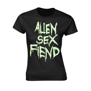 ALIEN SEX FIEND Logo Glow, レディースTシャツ