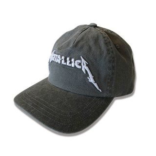 METALLICA Glitch Logo Washed Black, キャップ
