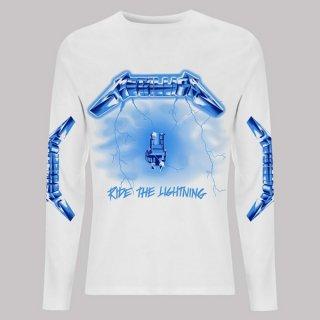 METALLICA Ride The Lightning White, ロングTシャツ