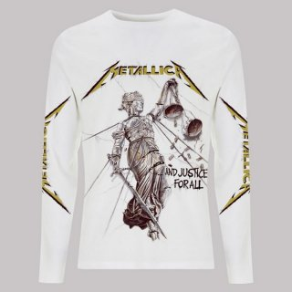 METALLICA And Justice For All White, ロングTシャツ