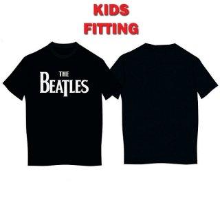 THE BEATLES Drop T Logo Blk, 子供用Tシャツ