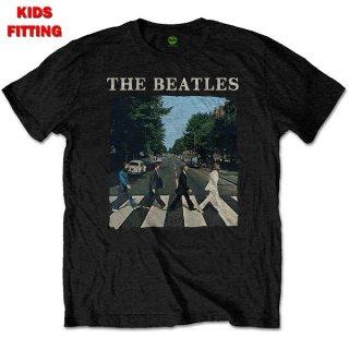 THE BEATLES Abbey Road & Logo Blk, 子供用Tシャツ