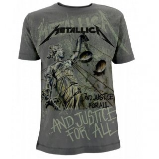 METALLICA Justice Neon All Over Charcoal, Tシャツ