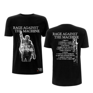 RAGE AGAINST THE MACHINE Ratm Bola Album Cover Tracks Blk, Tシャツ