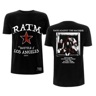 RAGE AGAINST THE MACHINE Ratm Battle Star Blk, Tシャツ