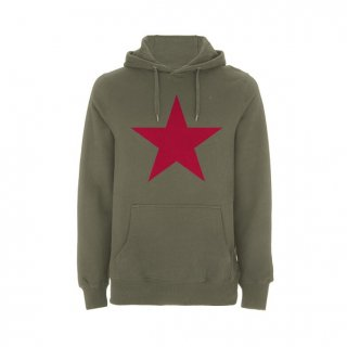 RAGE AGAINST THE MACHINE Ratm Red Star Olive Green, パーカー