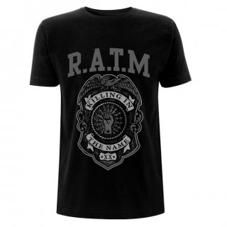 RAGE AGAINST THE MACHINE Ratm Grey Police Badge, Tシャツ