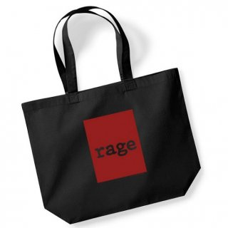 RAGE AGAINST THE MACHINE Ratm Red Square Black, トートバッグ
