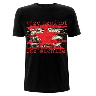 RAGE AGAINST THE MACHINE Ratm Newspaper Star, Tシャツ
