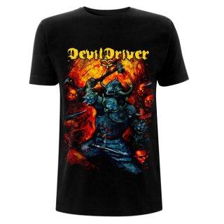 DEVILDRIVER Warrior Black, Tシャツ