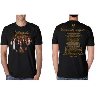 HOLLYWOOD VAMPIRES Photo Vampires 2018 Dates Back, Tシャツ<img class='new_mark_img2' src='https://img.shop-pro.jp/img/new/icons5.gif' style='border:none;display:inline;margin:0px;padding:0px;width:auto;' />