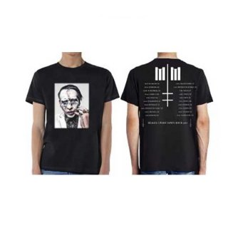 MARILYN MANSON Painted Face Euro Tour 2018, Tシャツ<img class='new_mark_img2' src='https://img.shop-pro.jp/img/new/icons5.gif' style='border:none;display:inline;margin:0px;padding:0px;width:auto;' />