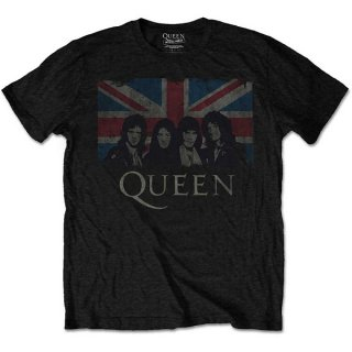 QUEEN Vintage Union Jack, Tシャツ<img class='new_mark_img2' src='https://img.shop-pro.jp/img/new/icons5.gif' style='border:none;display:inline;margin:0px;padding:0px;width:auto;' />