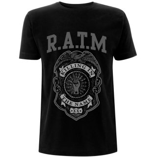RAGE AGAINST THE MACHINE Grey Police Badge, Tシャツ<img class='new_mark_img2' src='https://img.shop-pro.jp/img/new/icons5.gif' style='border:none;display:inline;margin:0px;padding:0px;width:auto;' />