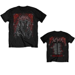 SLAYER Baphomet European Tour 2018, Tシャツ<img class='new_mark_img2' src='https://img.shop-pro.jp/img/new/icons5.gif' style='border:none;display:inline;margin:0px;padding:0px;width:auto;' />