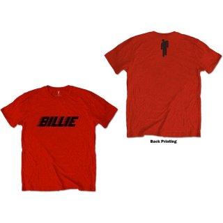 BILLIE EILISH Racer Logo & Blohsh Red, Tシャツ