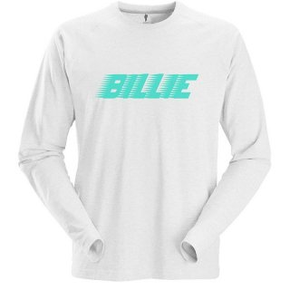 BILLIE EILISH Racer Logo Wht, ロングTシャツ