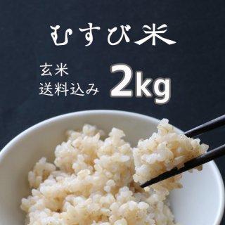 むすび米 玄米2kg【送料込】