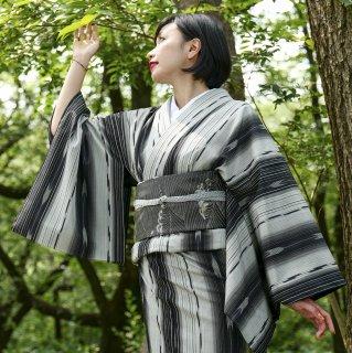 【紬[単衣]】 十日町『白新染織』謹製 塩沢物語紬