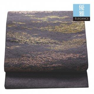 【六通袋帯】薄紫の地に たな引く彩雲