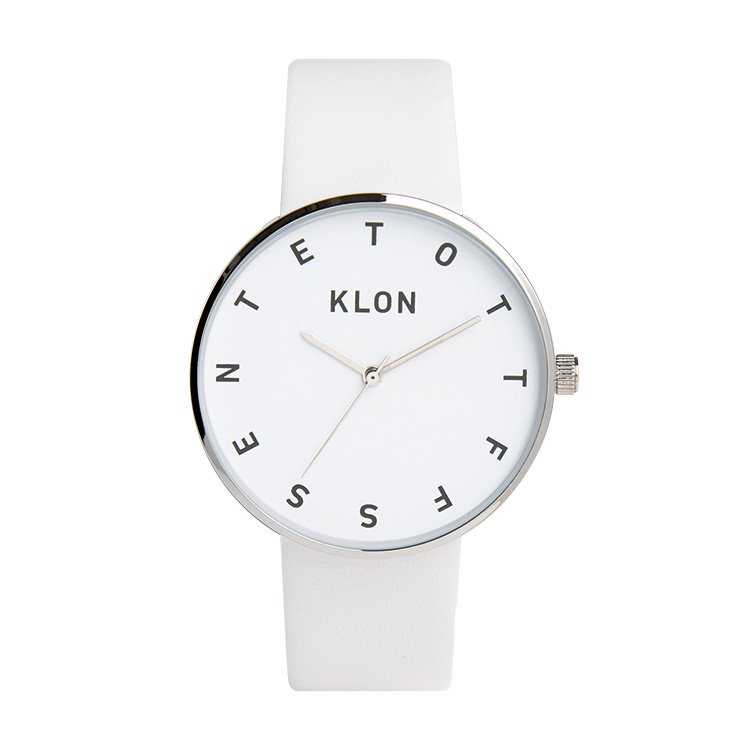 KLON ALPHABET TIME THE WATCH WHITE