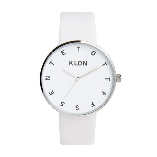 KLON ALPHABET TIME THE WATCH WHITE 40mm