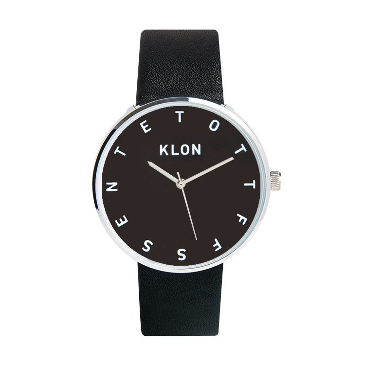 KLON ALPHABET TIME THE WATCH 【BLACK SURFACE】 40mm