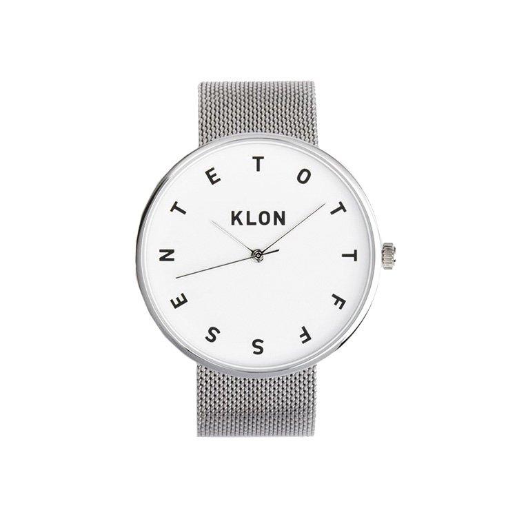 KLON ALPHABET TIME THE WATCH -SILVER MESH-