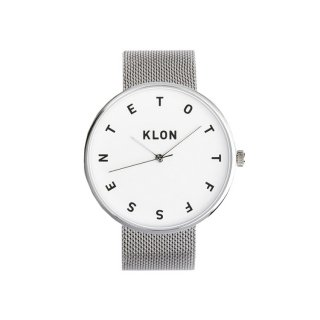 KLON ALPHABET TIME THE WATCH -SILVER MESH- 40mm