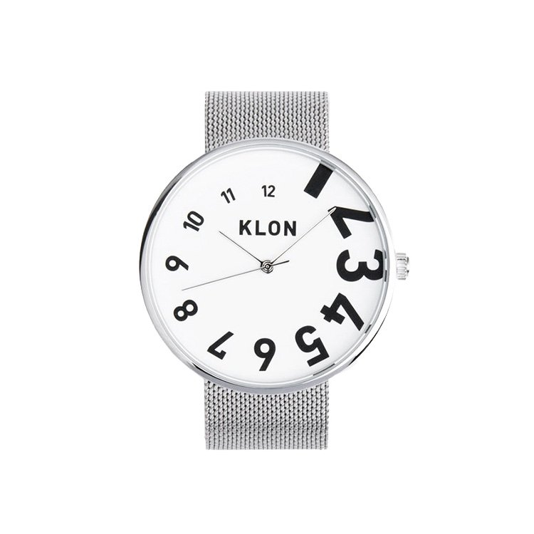 KLON EDDY TIME THE WATCH -SILVER MESH- 40mm
