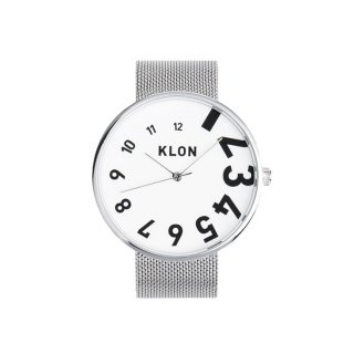 KLON EDDY TIME THE WATCH -SILVER MESH-