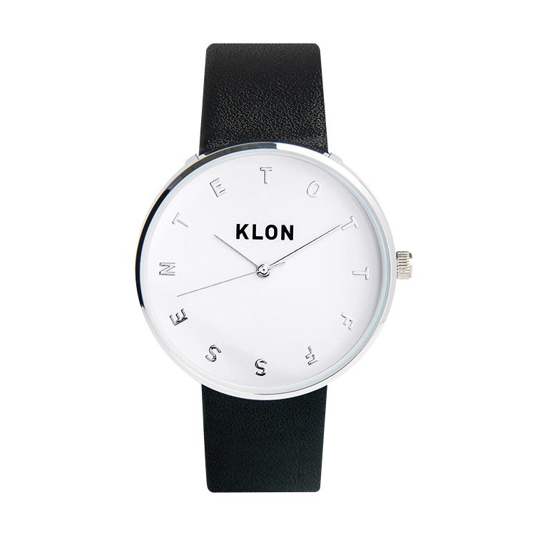 KLON ALPHABET TIME BLACK Ver.SILVER 40mm