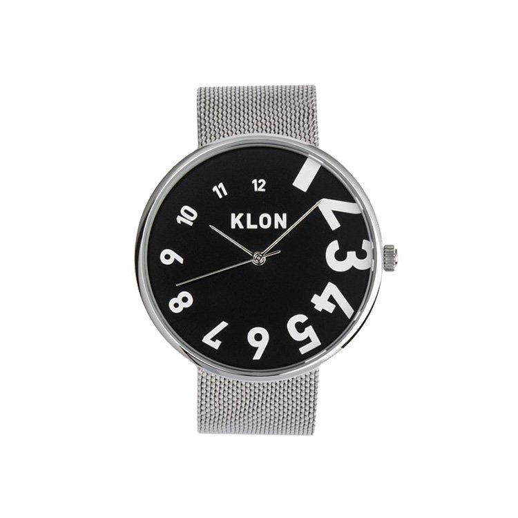 KLON EDDY TIME THE WATCH -SILVER MESH...