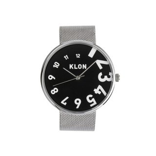【予約商品・12月中旬以降入荷予定】KLON EDDY TIME THE WATCH -SILVER MESH- 【BLACK SURFACE】 40mm