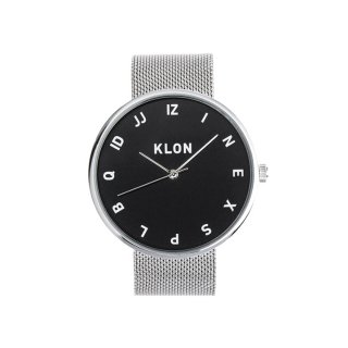 【入荷日未定】KLON MOCK NUMBER -SILVER MESH- 【BLACK SURFACE】 40mm