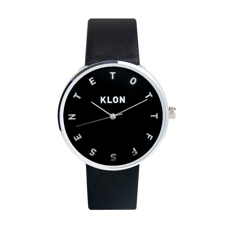 KLON ALPHABET TIME THE WATCH 【BLACK SURFACE】 Ver.SILVER