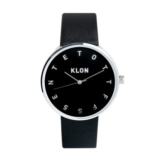 KLON ALPHABET TIME BLACK 【BLACK SURFACE】 Ver.SILVER 40mm