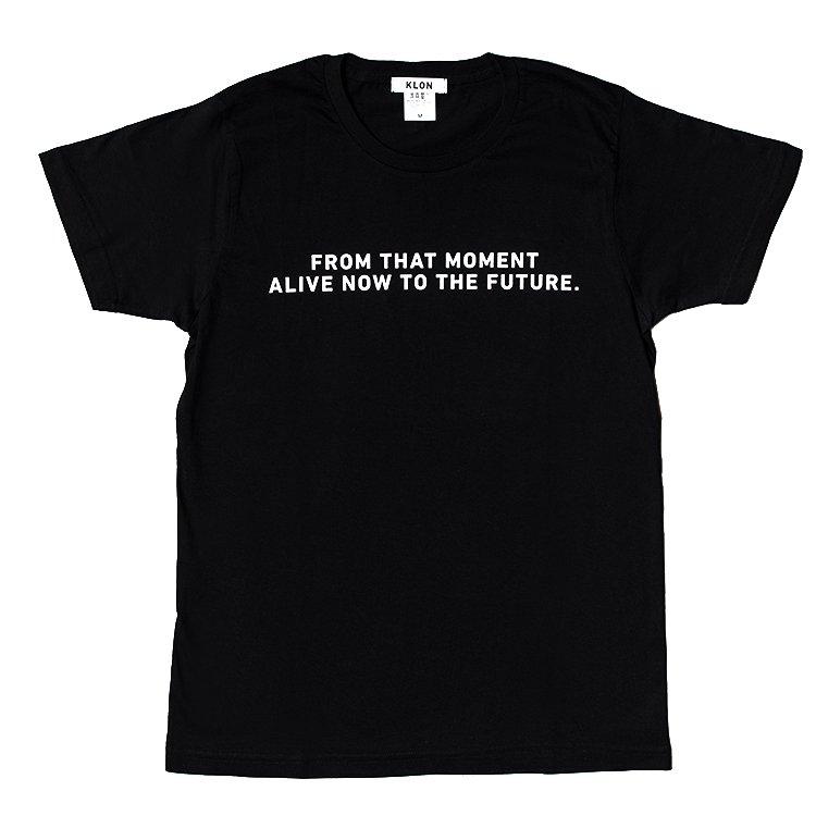 KLON Tshirts BRAND MESSAGE BLACK