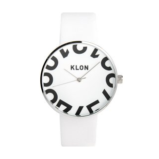 KLON HIDE TIME -ONE DIGIT- WHITE 40mm