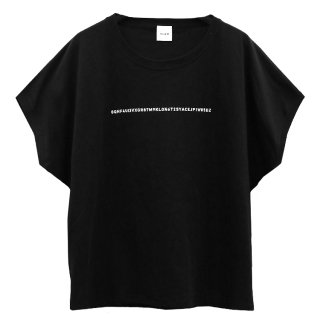 KLON SLEEVE-LESS WIDE Tshirts SERIAL NUMBER BLACK