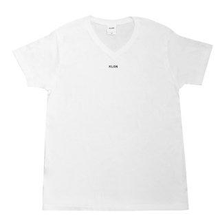 KLON V-NECK Tshirts LOGOTYPE WHITE