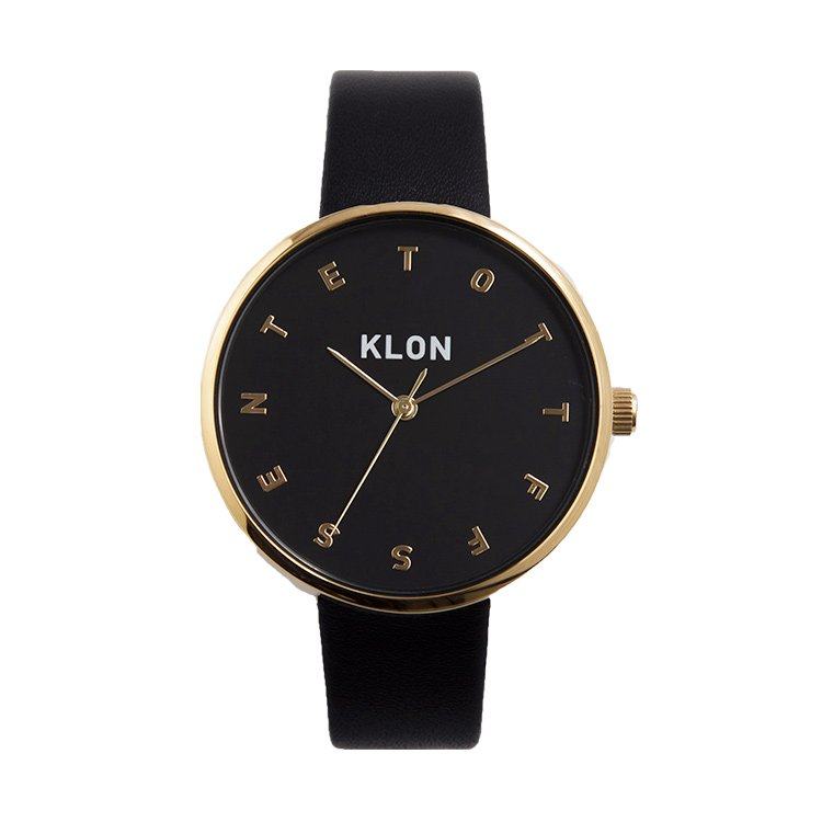 KLON ALPHABET TIME BLACK Ver.GOLD 38mm