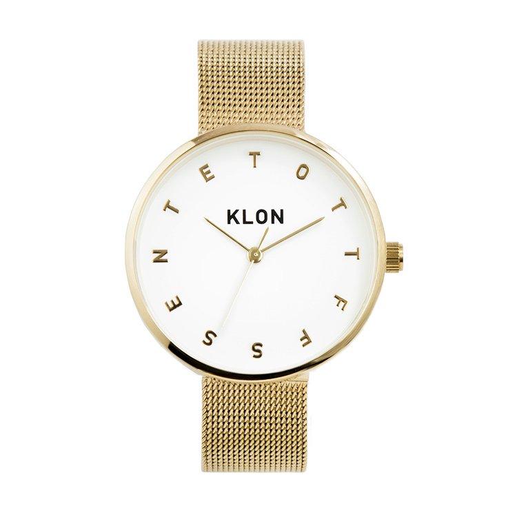 KLON ALPHABET TIME -GOLD MESH- 33mm