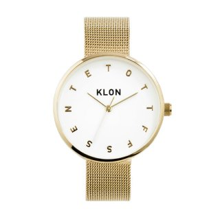 KLON ALPHABET TIME THE WATCH -GOLD MESH- 33mm