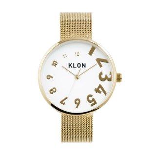 KLON EDDY TIME THE WATCH -GOLD MESH- 33mm