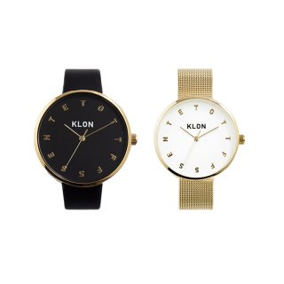 KLON ALPHABET TIME GOLD PAIR WATCH