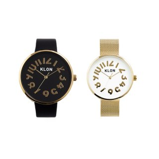 KLON HIDE TIME GOLD PAIR WATCH