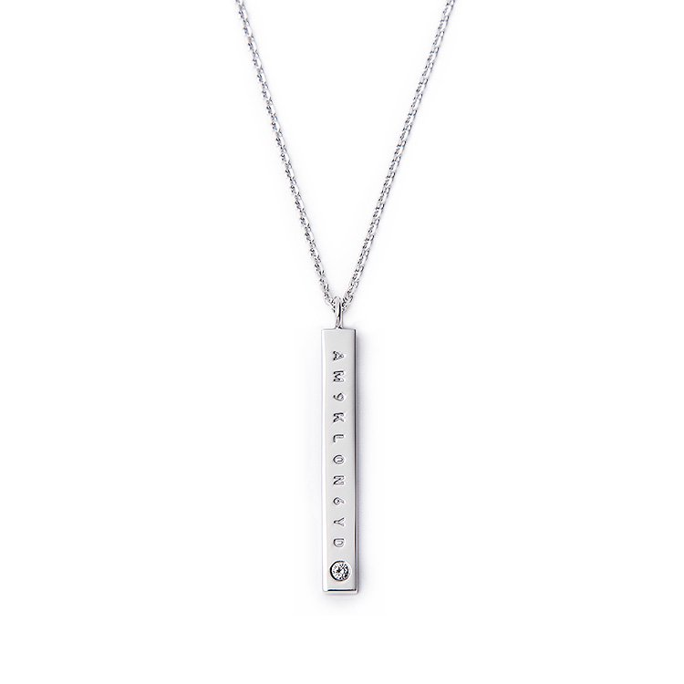 KLON BAR NECKLACE DIAMOND