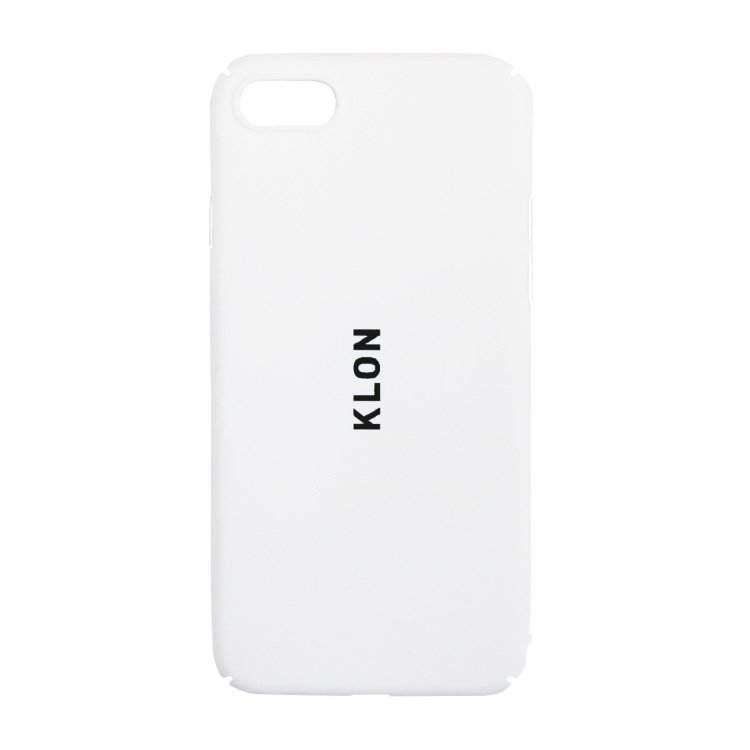 【iPhone 7,8,X,Xs 対応】KLON iPhone CASE LOGOTYPE S WHITE