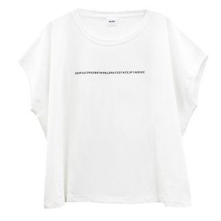 KLON SLEEVE-LESS WIDE Tshirts SERIAL NUMBER WHITE